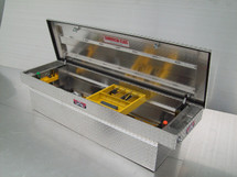 Brute Commercial Class Full Lid Crossover Toolbox features a sliding tool tray & tool holders