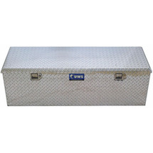 UWS 5th Wheel Toolbox in silver diamond plate