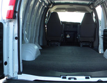 Molded to fit the contours of the 1992-2014 Ford Econolpne E-Series Vans