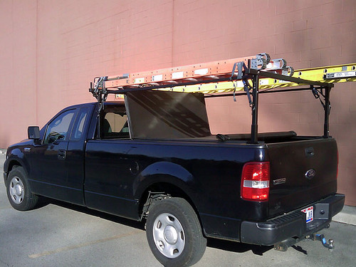 Extra wide configuration loaded for work (ladders, straps and tonneau NOT included)