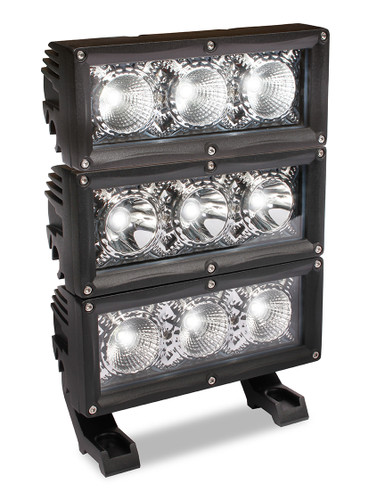 Stack multiple units and mix  & match spot & flood lights - or all the same. Units sold individually.