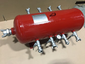 Pneumatic 8 Port Air Manifold for Construction Air Tools TX-2AMF Texas Pneumatic