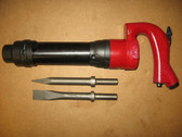 Chicago Pneumatic Air Chipping Hammer CP 3 Round +2Bits