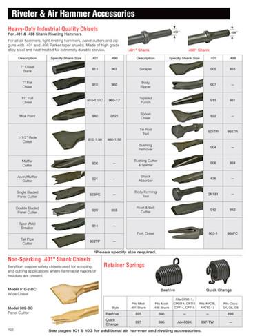 Pistol Grip Air Hammer Bits 401 Quot Amp 498 Quot Shank