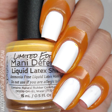 Mani Defender - Limited Edition - Liquid Latex for perfect nails - Use for easy clean up of stamping and nail art - Manicure - Nail Polish - NEW Orange limited edition color
