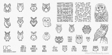 Who Gives a Hoot - Uber Mini Nail Stamp Plate