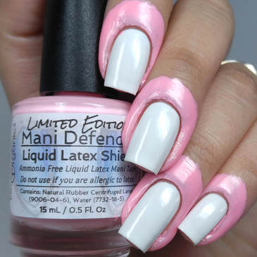 Mani Defender - Pink - NEW Limited Edition - Liquid Latex for perfect nails - Use for easy clean up of stamping and nail art - nail tape