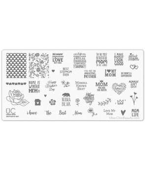 Uber Chic Mother's Day nail stamping plate.