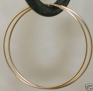 1 5 14k Yellow Gold Endless Hoop Earrings 40mm X 1mm