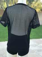Don't Think, Just Feel Mesh Panel Tee