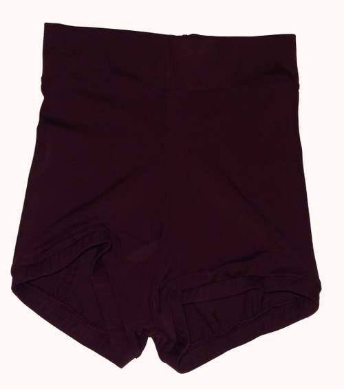 Merlot High Waisted Booty Shorts