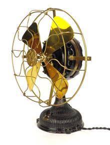 "12"" 1903 Stick Mount General Electric Pancake Desk Fan"