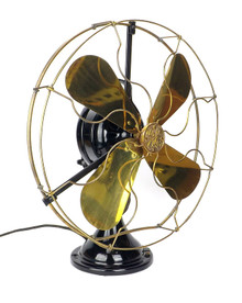 "Restored 1919 16"" GE 2 Star Oscillator"