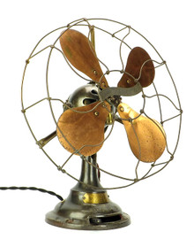 "Industrial 12"" Verity Jr. Ball Motor Desk Fan  c. 1910"