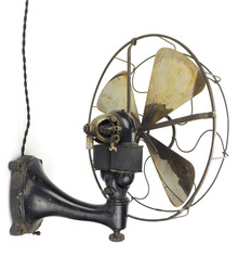"Very Rare 16"" Western Electric Bipolar Wall Mount Fan"