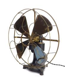 """1890's 16"""" Western Electric Bipolar Desk Fan"""
