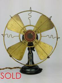Crocker Wheeler All Brass Fan