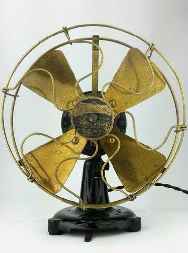 Table Fans Parts : Original peerless quot tab base desk fan antiquefanparts