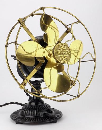 Emerson 8 Quot Brass Desk Fan Type 1500 Antiquefanparts