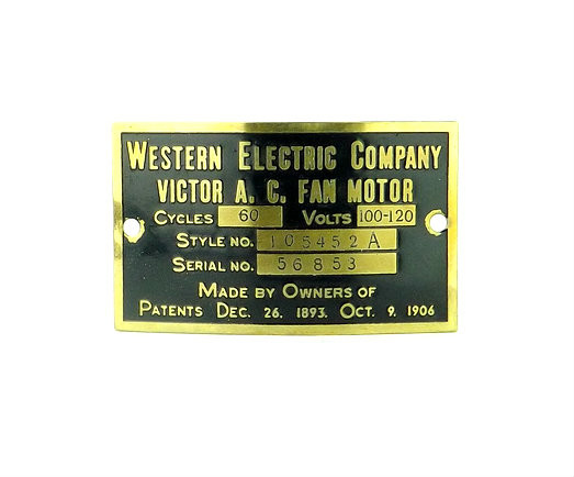 Western Electric Victor 12 Quot Lollipop Motor Tag 105452a