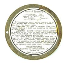 "Original Bottom Cover for 8"" Westinghouse All Brass Fan"