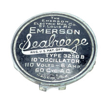 Original Emerson Seabreeze Model 3250 B Cage Badge