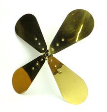 "Original 16"" 4 Wing Brass Blade for R&M Polished Brass"