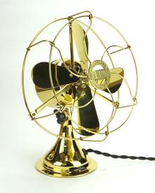 """Restored All Brass 8"""" Jandus Fan"""