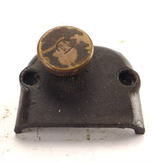 ORIGINAL GE BRASS BELL OSCILLATOR GEARBOX COVER WITH ENGAGEMENT KNOB