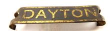 ORIGINAL DAYTON BRASS CAGE STRIP BADGE