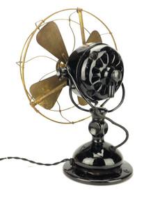 "Original Condition 12"" Jandus Wire Mount Fan"