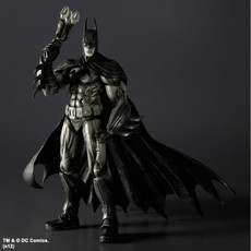 Batman Arkham Asylum: Batman B&W Play Arts Kai Action Figure SDCC 2012
