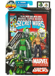 Marvel Universe Comic Pack Secret Wars #10 Absorbing Man & Dr Doom with Wasp