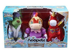 Neopets Collectors Series Royal Boy Gelert, Royal Girl Scorchio, Royal Boy Uni - Limited Edition