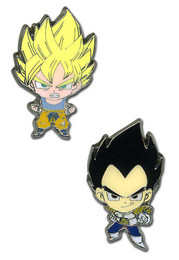 Dragon Ball Z Super Saiyan Goku and Vegeta Pins