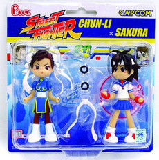 Street Fighter Chun-Li X Sakura Figure Set