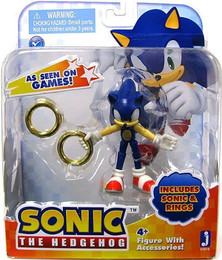Sonic the Hedgehog: Sonic 3 Inch Action Figure With Accessories Set Sonic & Rings