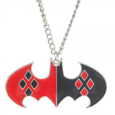 Batman: Harley Quinn Bat Symbol Necklace