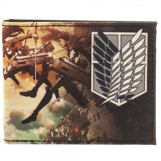Attack on Titan: Scouting Regiment Attack Bi-Fold Wallet