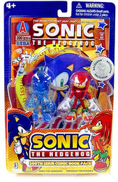 Sonic The Hedgehog: Sonic & Knuckles the Echidna 3 inch Figure 2-Pack with Comic Book Exclusive