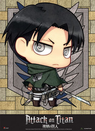 Attack on Titan: SD Levi Fabric Poster (Wall Art)