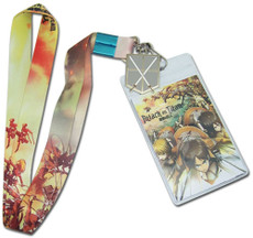 Attack On Titan: Regiment Attack ''To Battle'' Lanyard ID Holder with Charm