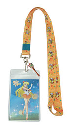 Sailor Moon R: Sailor Venus Lanyard ID Holder with Charm