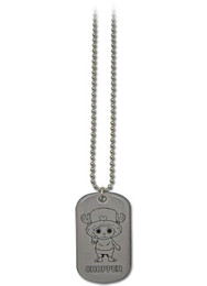 One Piece Chopper Dog Tag Necklace
