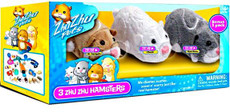 Zhu Zhu Pets Special Collector 3 Pack (Mr. Squiggles, Chunk, Num Nums and Pipsqueak)