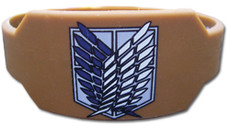 Attack on Titan: Scout Regiment Brown Wristband