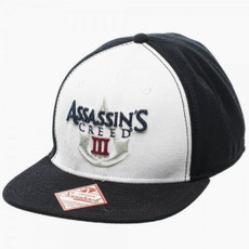 Assassin's Creed 3: Black/White Logo Snapback Cap