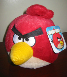 Angry Birds Red Bird 8 Inch Deluxe Plush (No Sound)