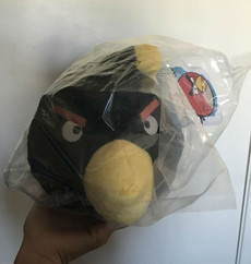 Angry Birds Black Bird 8 Inch Deluxe Plush (No Sound)