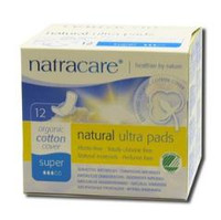 NatraCare Ultra Pads with Wings - Super